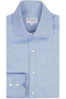 EMMETT LONDON Panama Amalfi-collar double-cuff shirt