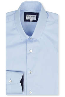 EMMETT LONDON Satin Twill super-slim single-cuff shirt