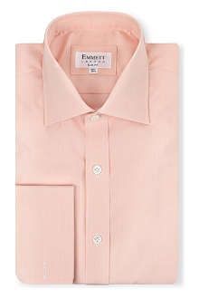 EMMETT LONDON Micro-check double-cuff shirt