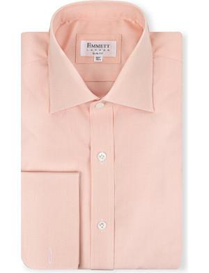 EMMETT LONDON Micro-check double-cuff shirt