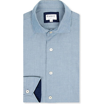 EMMETT LONDON Hugo denim super slim-fit shirt (Blue