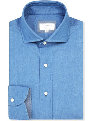 EMMETT LONDON Slim-fit single-cuff denim shirt