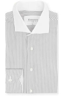 EMMETT LONDON Striped contrast collar shirt