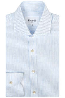 EMMETT LONDON James Bond slim-fit single-cuff linen shirt
