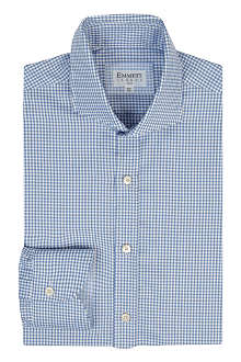 EMMETT LONDON Gingham slim-fit single-cuff shirt