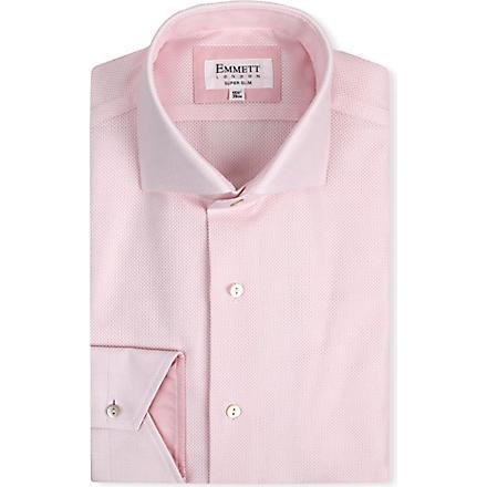 EMMETT LONDON James Bond super-slim single-cuff shirt (Pink