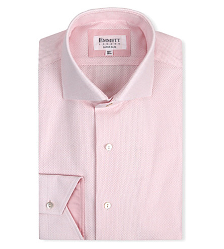 EMMETT LONDON James Bond super-slim single-cuff shirt (Pink