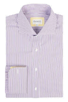 EMMETT LONDON Striped regular-fit double-cuff shirt