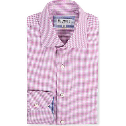 EMMETT LONDON Mini houndstooth print shirt (Pink