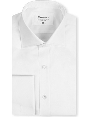EMMETT LONDON Milano slim-fit double-cuff shirt