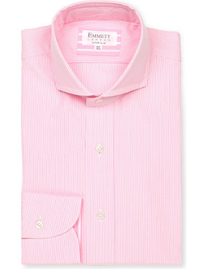 EMMETT LONDON Striped super slim-fit cotton shirt