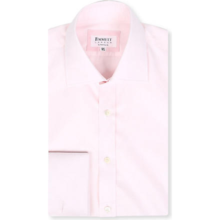 EMMETT LONDON Paris spread-collar cotton shirt (Pink