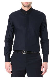 EMMETT LONDON Paris tab-collar super slim-fit shirt