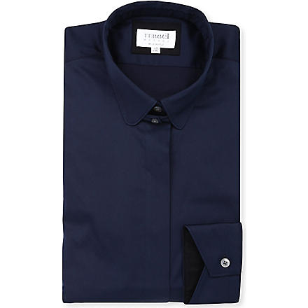 EMMETT LONDON Paris tab-collar shirt (Navy