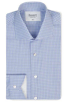 EMMETT LONDON Parker Oxford check slim-fit single-cuff shirt