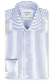 EMMETT LONDON Parker Oxford stripe slim-fit single-cuff shirt