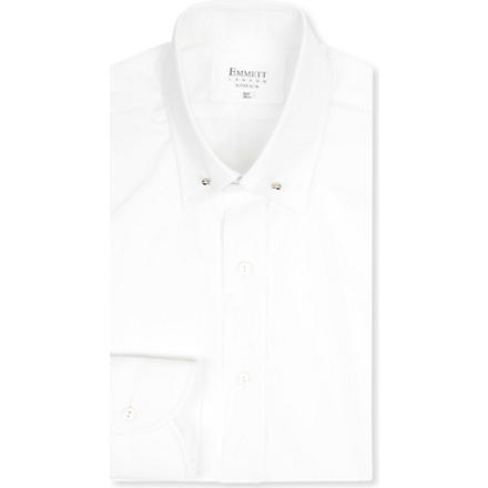 EMMETT LONDON Collar bar slim fit shirt (White