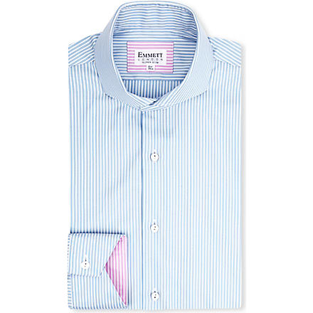 EMMETT LONDON St James Oxford stripe shirt (Blue