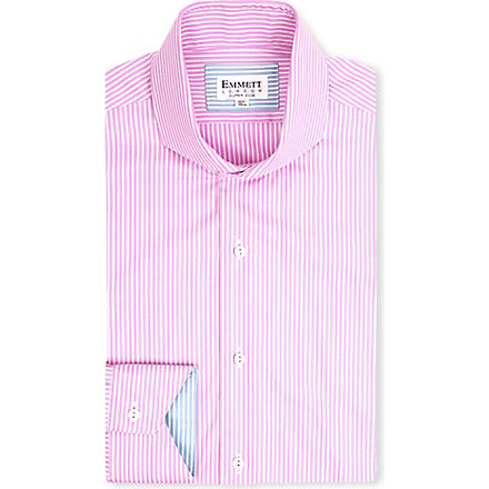 EMMETT LONDON St James Oxford stripe shirt (Pink