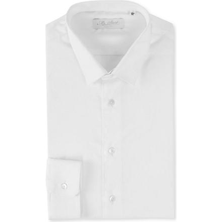 MR START Button–down collar slim fit single cuff shirt (White