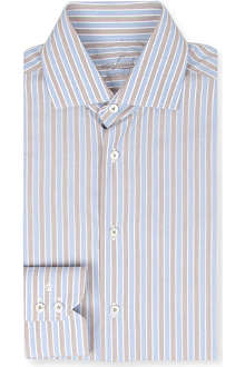 VAN LAACK Tailored double-cuff stripe shirt