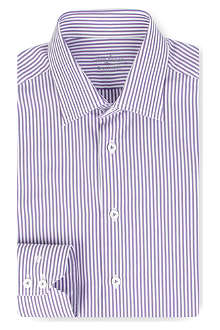 VAN LAACK Stripe slim-fit double cuff shirt