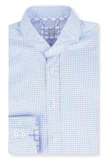 VAN LAACK Gingham slim-fit double cuff shirt