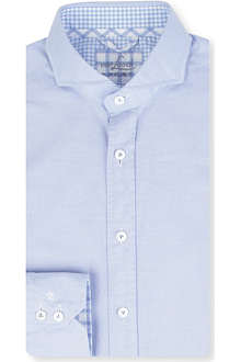VAN LAACK Micro check slim-fit double cuff shirt