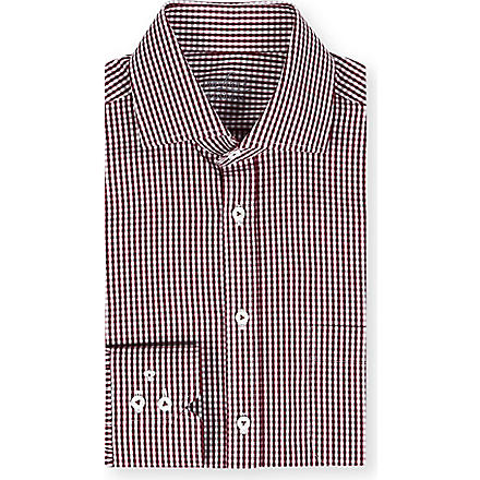 VAN LAACK Spread collar gingham shirt (Red