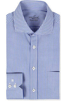 VAN LAACK Spread collar gingham shirt