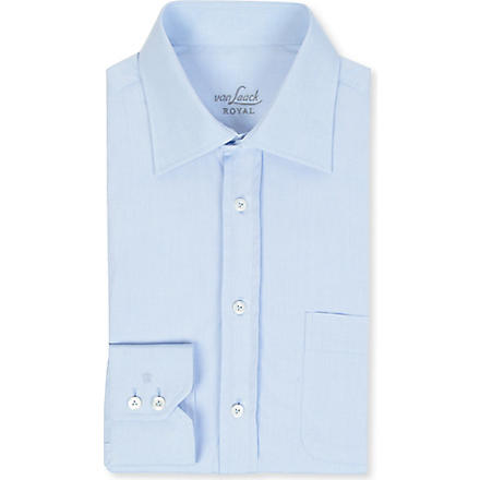 VAN LAACK Rigo tailored-fit single-cuff shirt (Blue