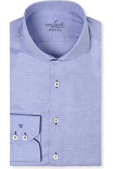 VAN LAACK Panama cotton spread-collar shirt