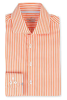 VAN LAACK Rivara tailored bengal-stripe single-cuff shirt
