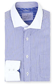 VAN LAACK Striped contrast spread-collar shirt