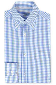 VAN LAACK Ron gingham tailored single-cuff shirt
