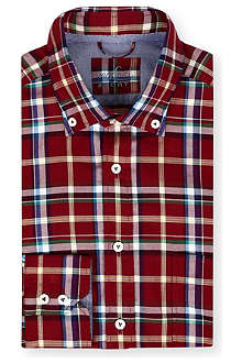 VAN LAACK Button-down collar check shirt