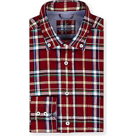 VAN LAACK Button-down collar check shirt (Red