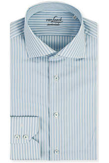VAN LAACK Ribbon-stripe tailored-fit shirt