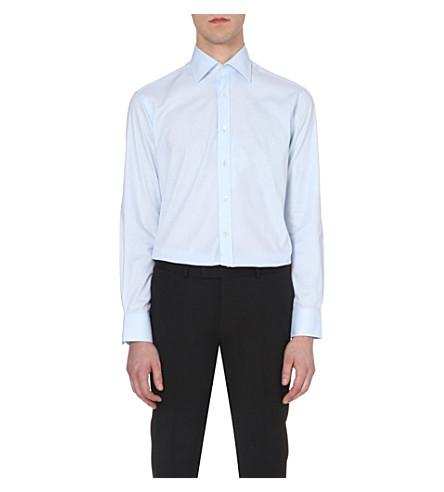 SMYTH & GIBSON 量身定做的 single-cuff 衬衫 (蓝色