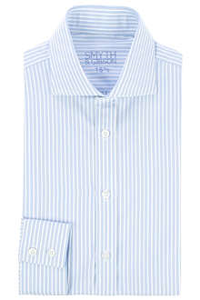 SMYTH & GIBSON Cutaway striped-Oxford single-cuff shirt