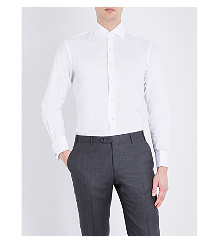 SMYTH & GIBSON Tailored cotton shirt (White