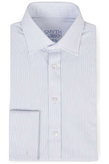 SMYTH & GIBSON Swiss bengal striped double cuff shirt