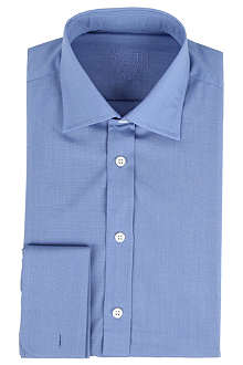 SMYTH & GIBSON Classic textured double-cuff shirt