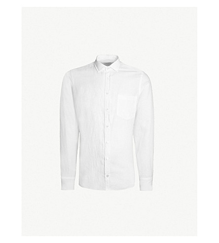 SMYTH & GIBSON Tailored-fit linen shirt (White