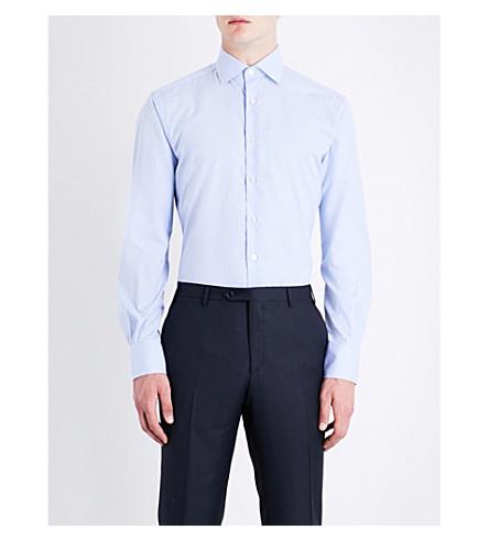 SMYTH & GIBSON Gingham cotton shirt (Sky