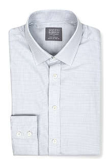 SMYTH & GIBSON Gingham spread-collar single-cuff shirt