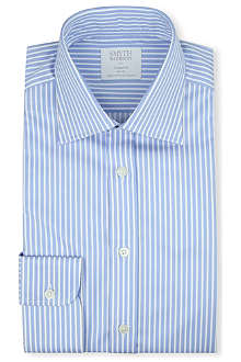 SMYTH & GIBSON Classic stripe tailored-fit single-cuff shirt