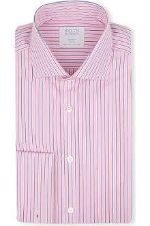 SMYTH & GIBSON Regent stripe cutaway-collar double-cuff shirt