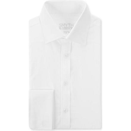 SMYTH & GIBSON Plain double–cuff shirt (White