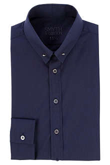 SMYTH & GIBSON Textured collar-bar shirt